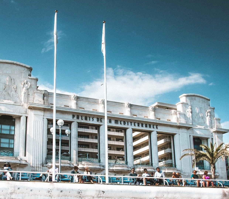front view of the Palais de la Méditerranée in Nice