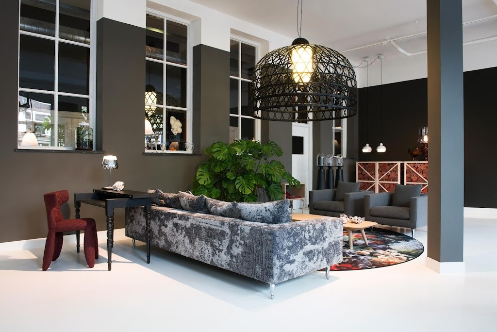 shop interior of design store and showroom Moooi in Amsterdam