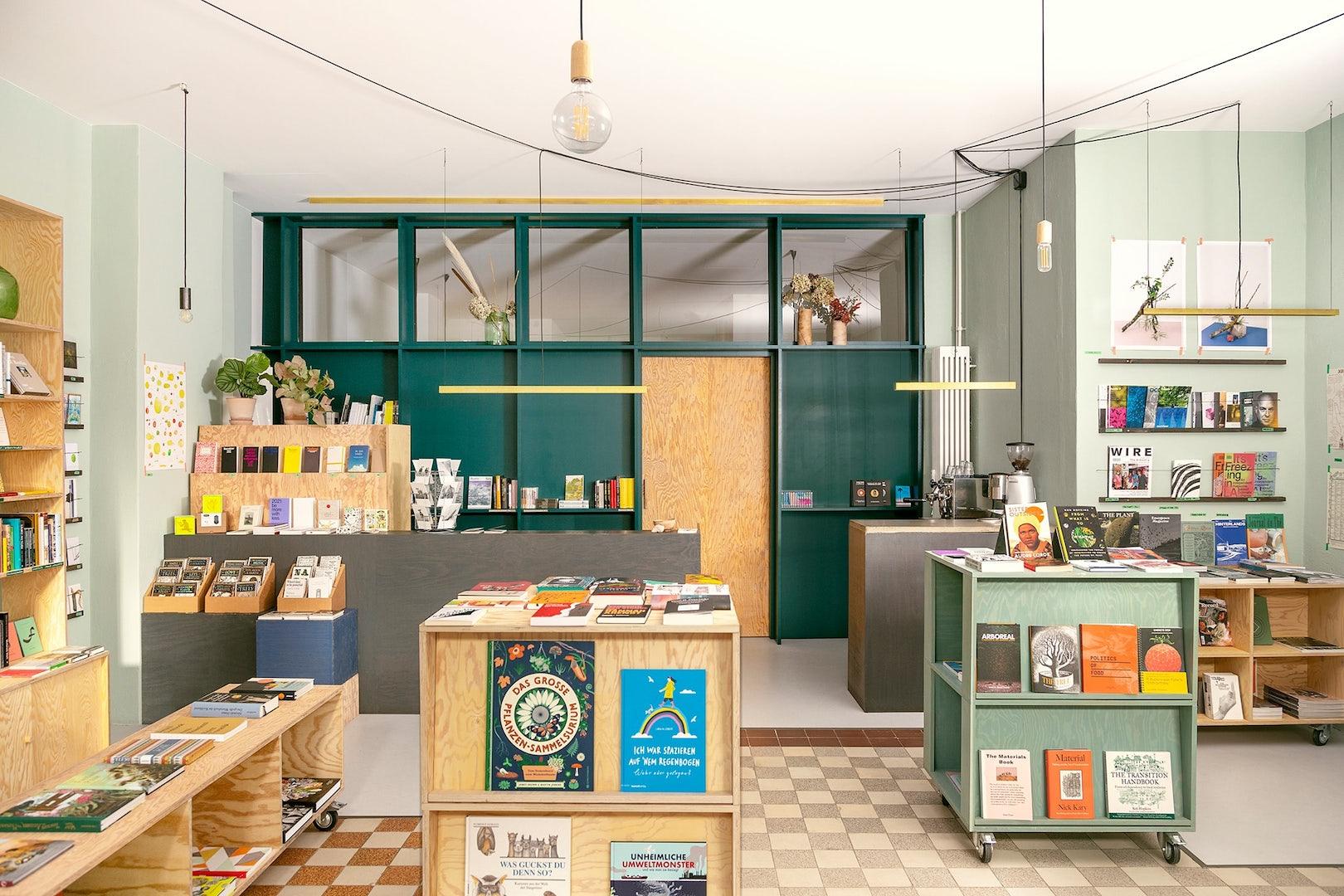 shop interior of Zabriskie book store in Berlin
