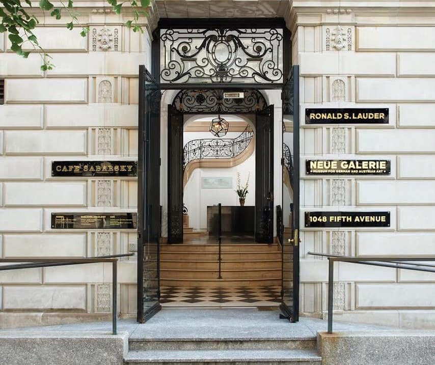 entrance of the Neue Gallerie in NYC